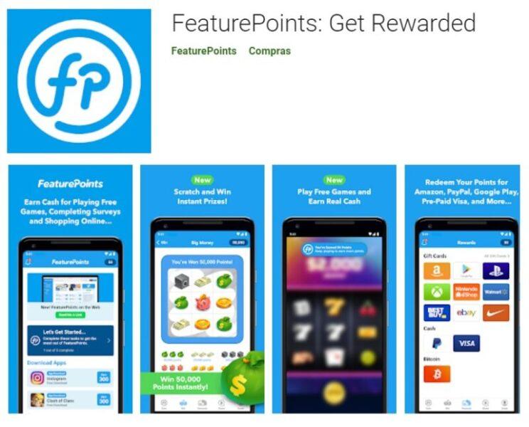 Feature Points app ganhar dinheiro